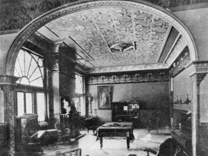 Ornate tin ceilings became prevalent in 19th century America