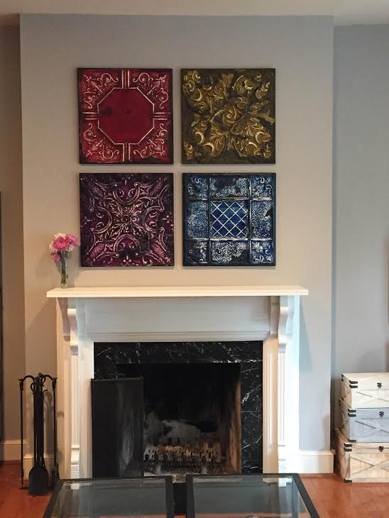 Our tin looks amazing over a mantel