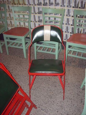 Reupholstered chairs from Philly Civic Center
