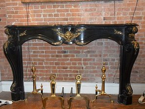Black French marble mantel