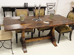 Reclaimed white pine farm table