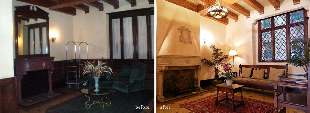 Michael Laudati lobby-before & after remodel