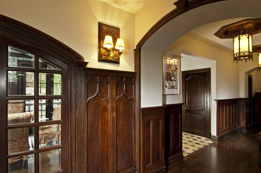 Gothic paneling and wainscoting