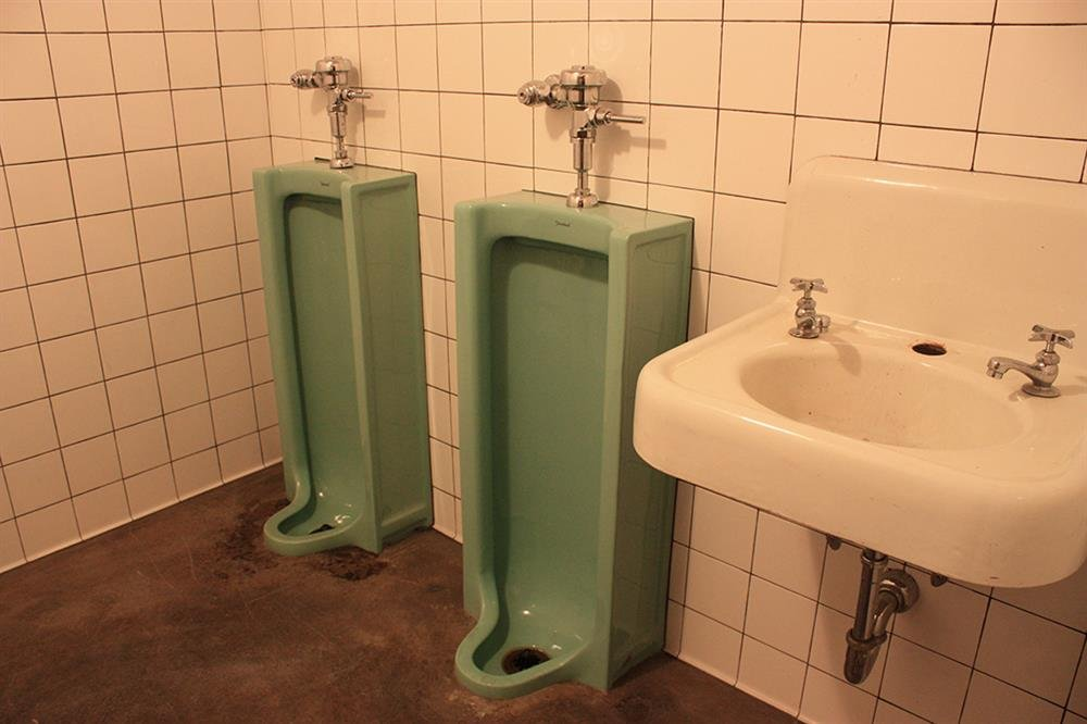 These mint green urinals are one of the quirkiest things Olde Good Things has salvaged. Not only do they have practical use, they are pleasing to the eye.