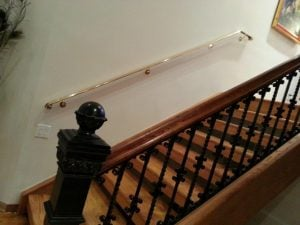 After: This railing now brings new beauty to this home