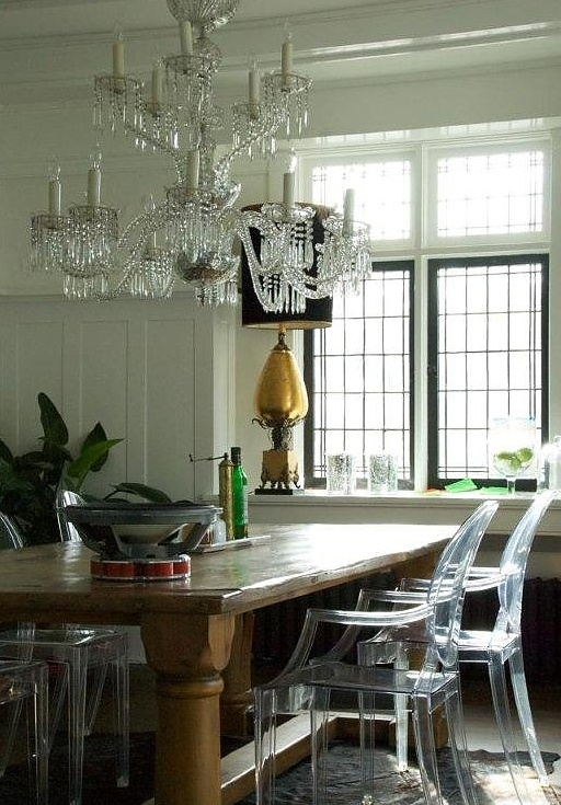 A crystal chandelier purchased at our Chelsea location