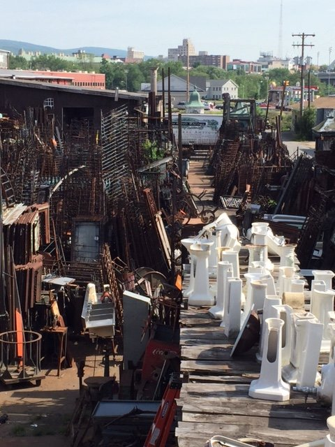Our vast iron yard in Scranton Pennsylvania is filled with many varieties of architectural iron