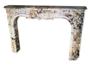 Early French Regency marble mantel