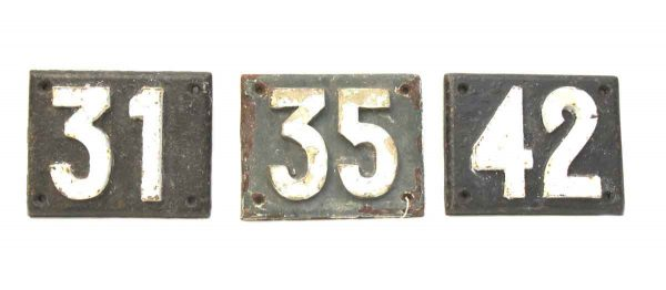 Cast Iron Plaque Stable Numbers