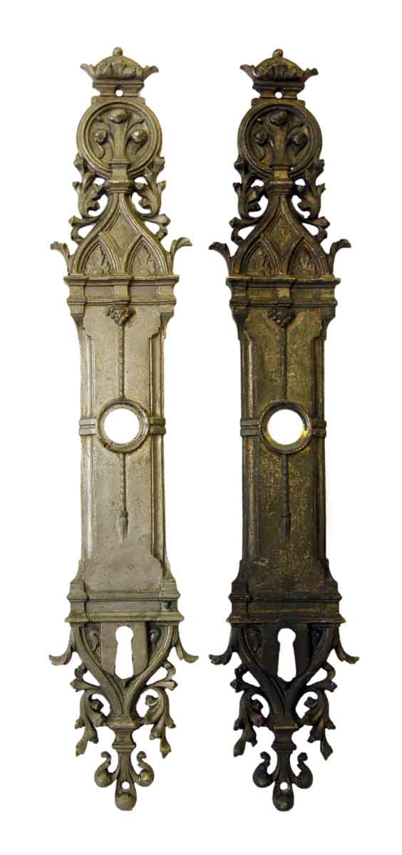 Nickel Over Brass Plates with Gothic Design