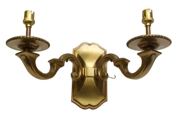 Two Armed Bronze Wall Sconce