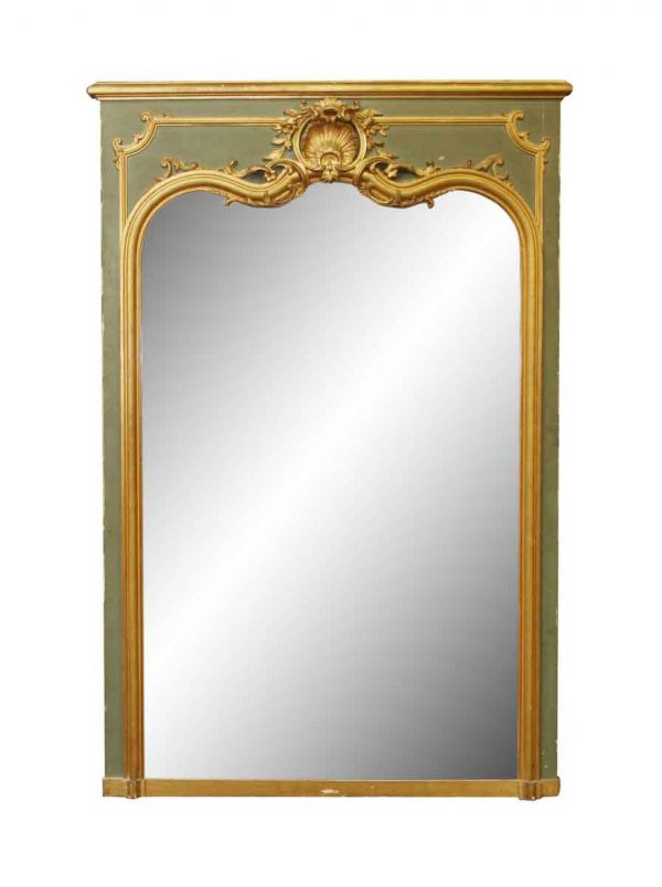 Ornate French Mirror with Gild Details from the 20th Century