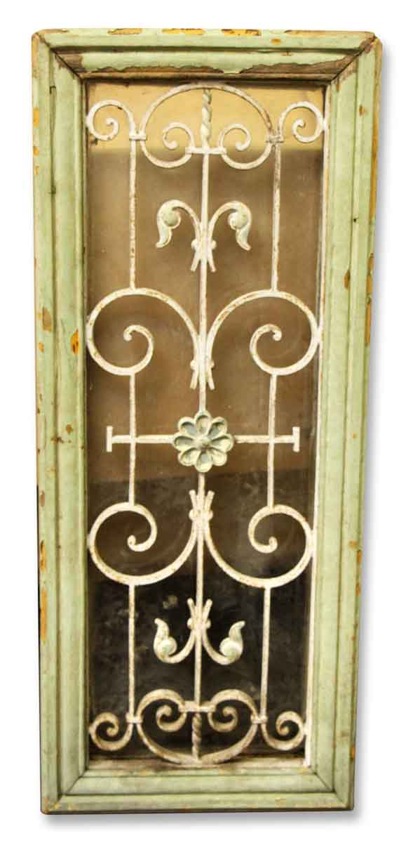 Iron Grill in Painted Wooden Frame