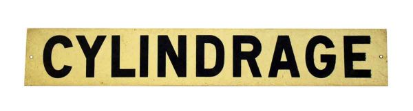 Antique French Cylindrage Road Sign