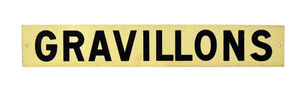 French Gravillons Road Sign