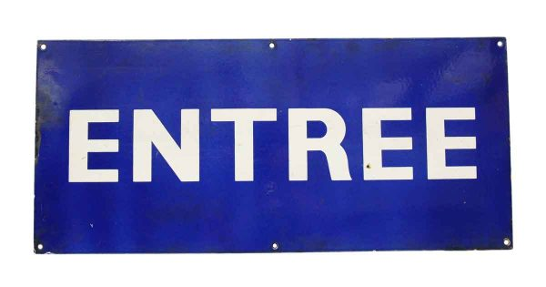 French Entree Entrance Sign