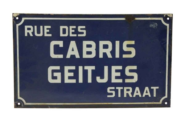 Vintage French Sign