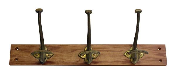 Brass Hook Trio on Plank