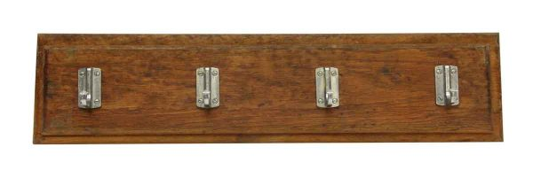 Plank with Four Aluminum Hooks