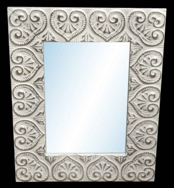 Heart 4.5 in. Tin Framed Mirror