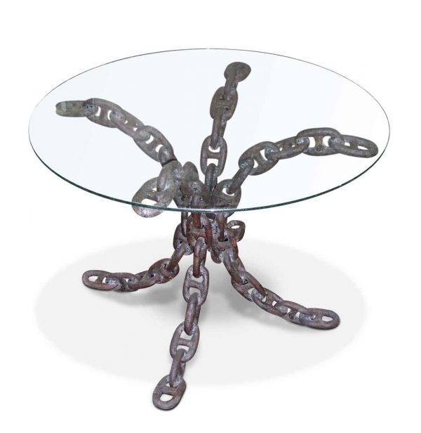 Unique Wrought Iron Nautical Chain Link Table