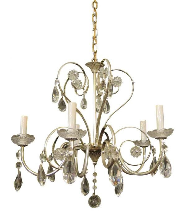 Silver Plate & Crystal Chandelier