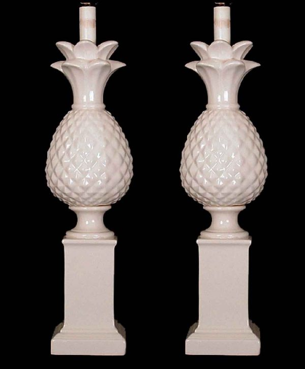 Pair of French Neo Classical Porcelain Lamps