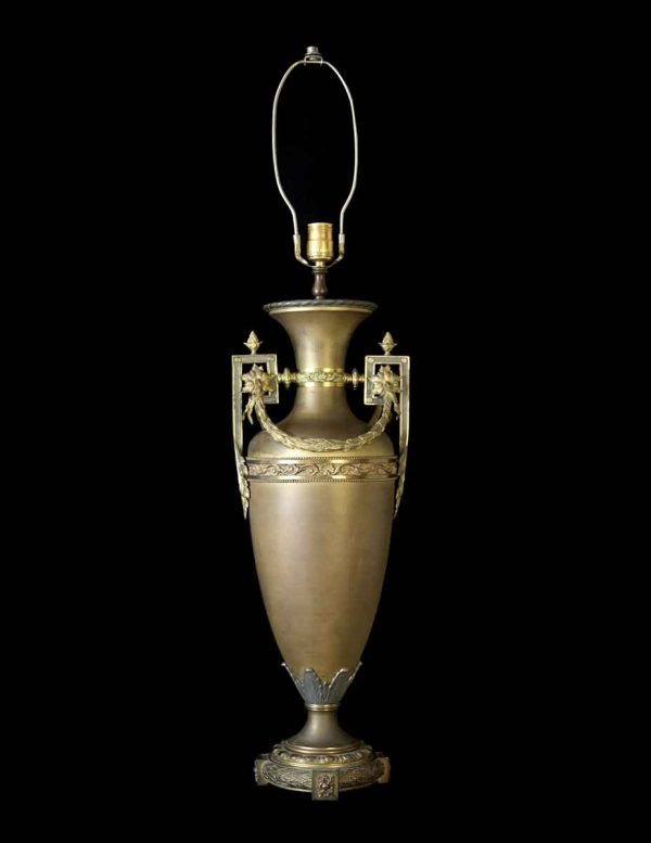 French Bronze Urn Lamps