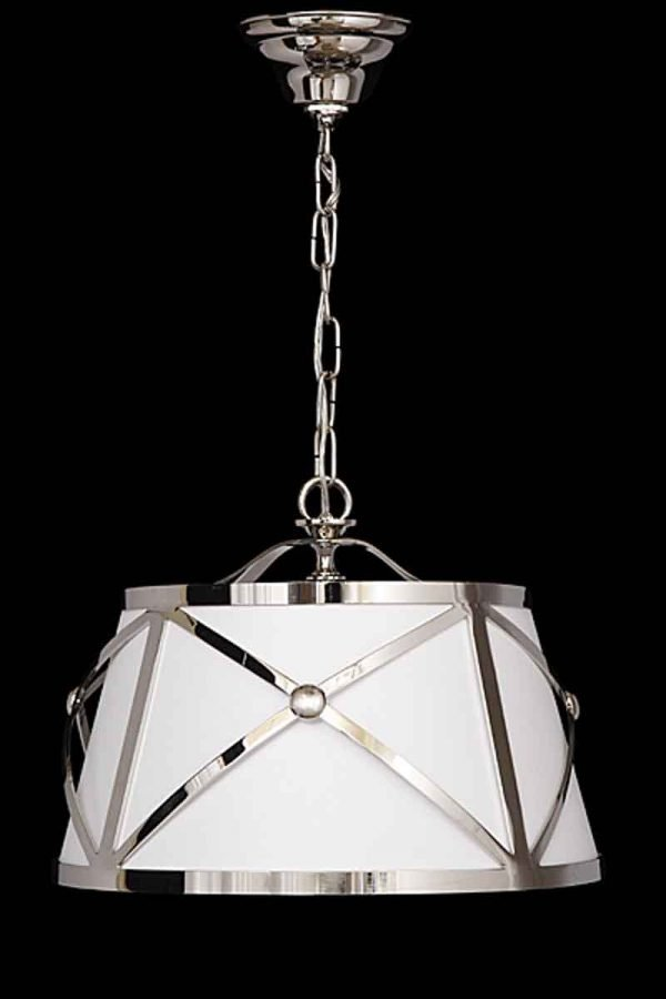 Moderne Style Linen Drum Shade Fixture