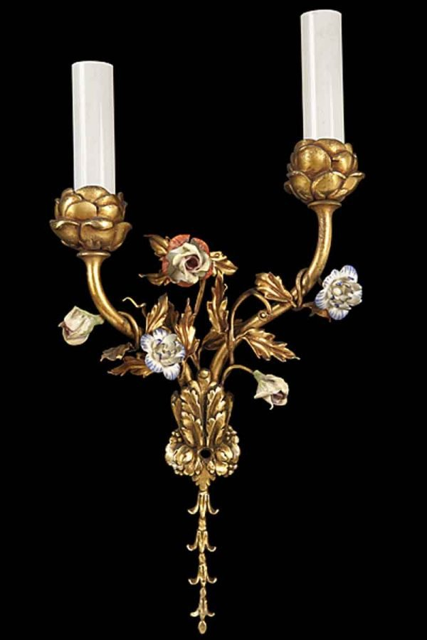 Louis Xv Style Gilded Bronze Sconce