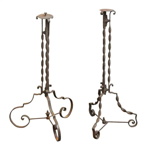 Pair of Wrought Iron Stands