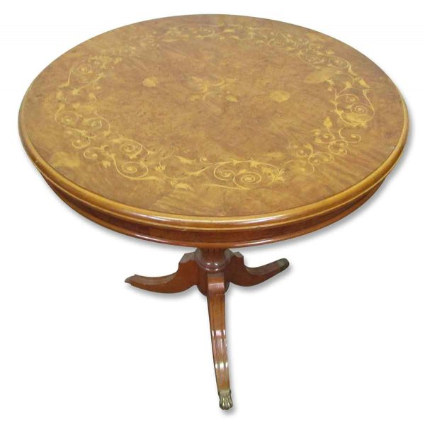 Wooden Inlaid Round Tables