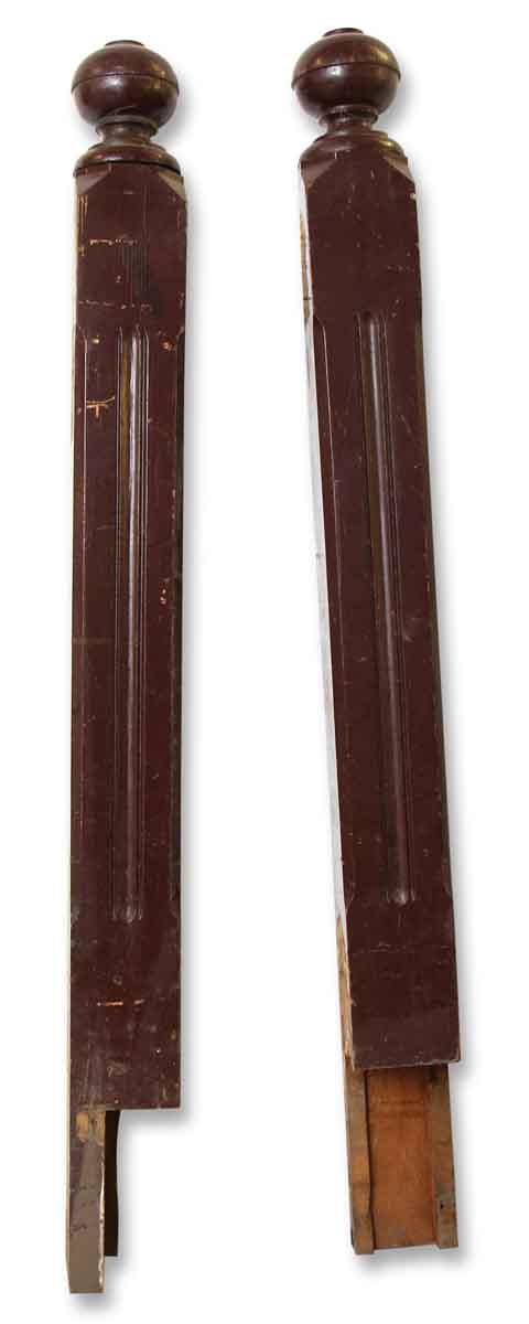Pair of Newel Posts with Ball Finials
