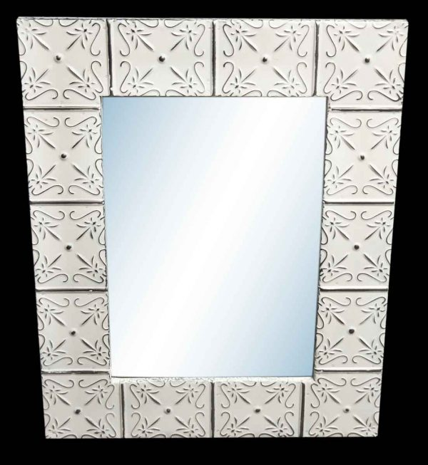 Petals 4.5 in. Tin Framed Mirror