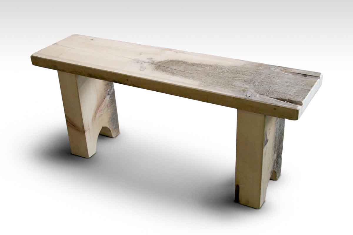 Rustic White Pine Farm Table Bench Olde Good Things