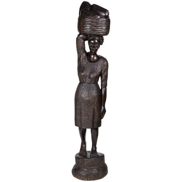 Carved Wood Statue from Haiti