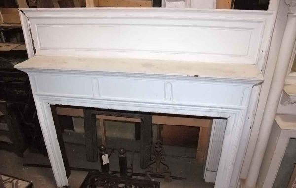Walnut Mantel with White Paint