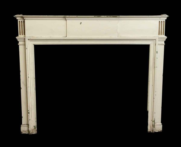White Painted Wooden Federal Mantel