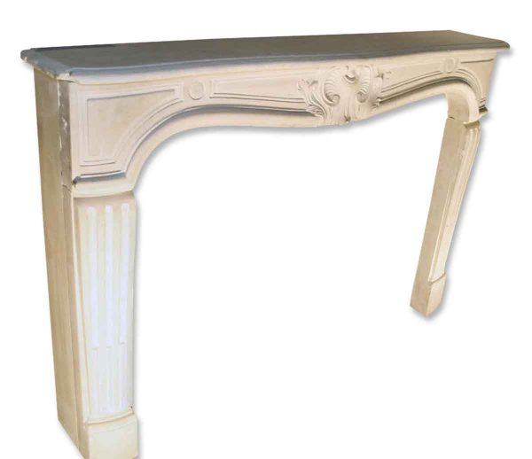 French Country Limestone Mantel