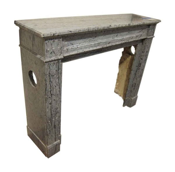 Simple French Louis XVI Style Marble Mantel