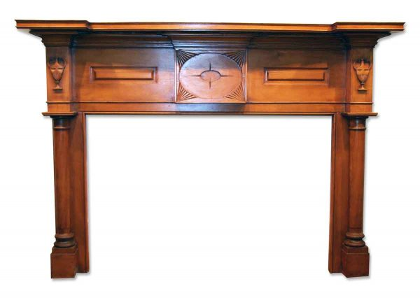 Antique American Federal Style Wood Mantel