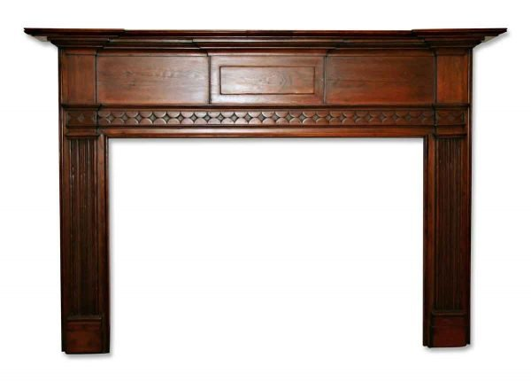 Federal Style Antique Pine Wooden Mantel