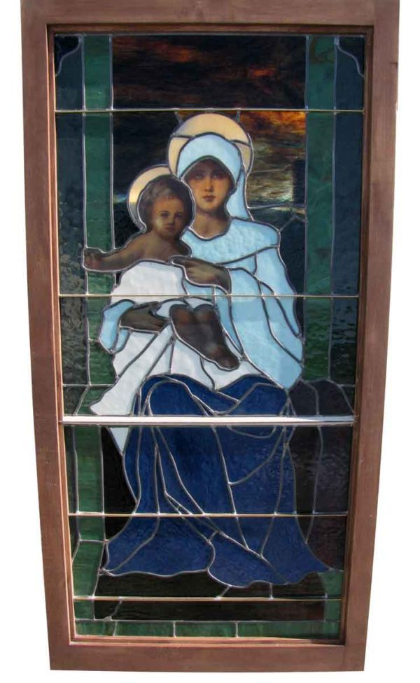 Stained Glass Window of 'Mary with Jesus'