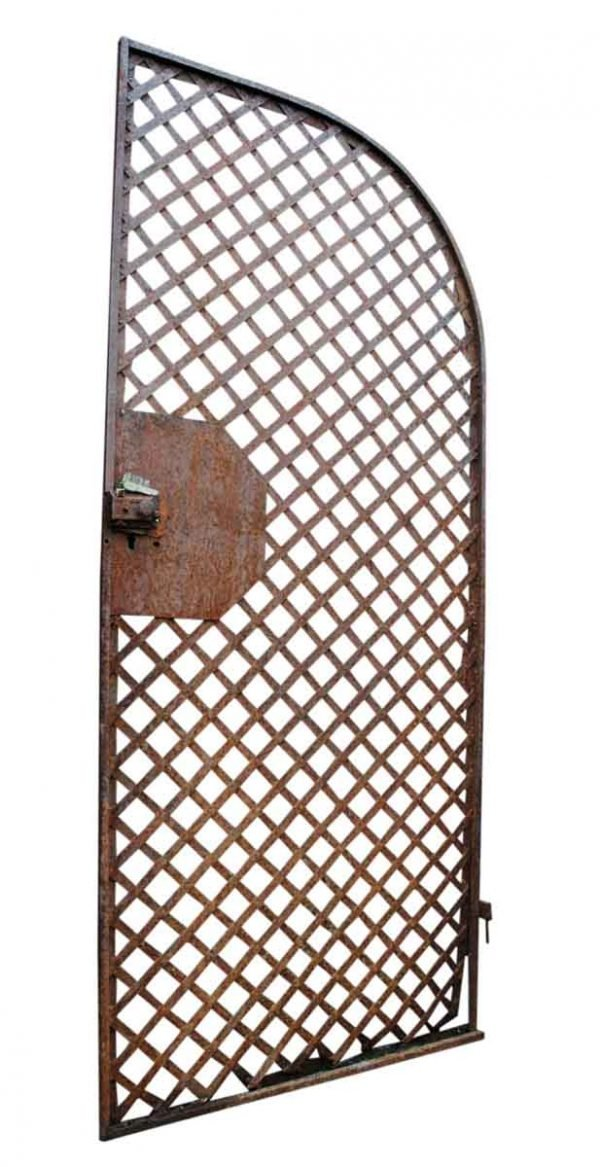 Antique Wrought Iron Gate or Woven Lattice Garden Trellis