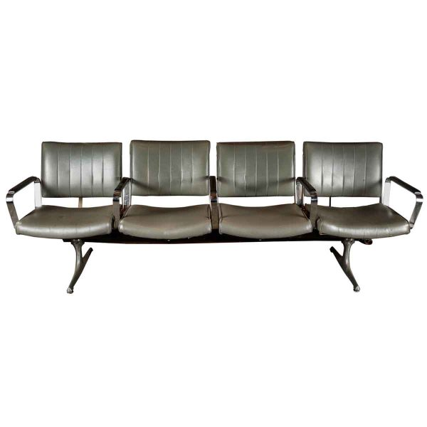Set of Four Retro Style Airport Waiting Area Chairs