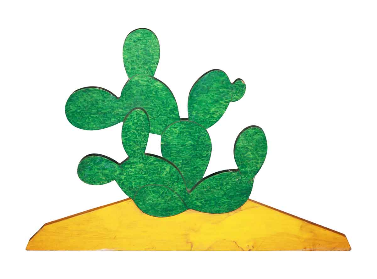 Hand Crafted Wooden Cactus