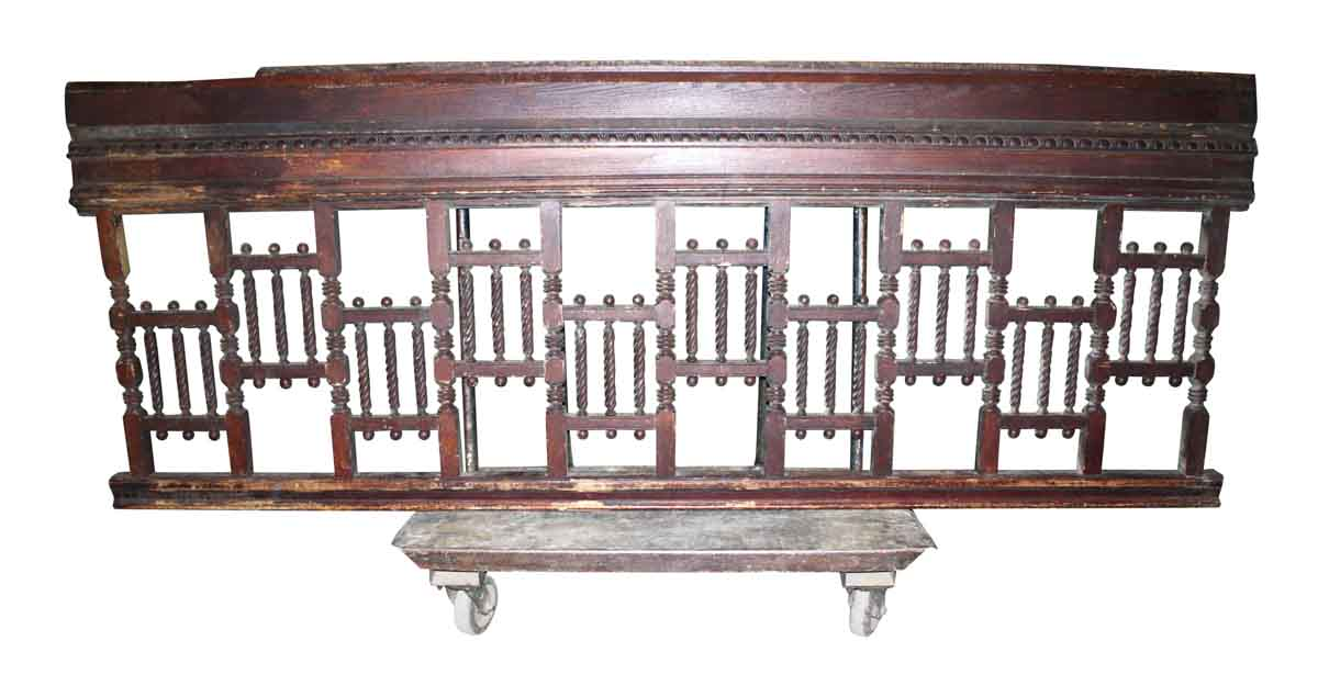 Antique Stair Balcony Railing with Spindle Fretwork