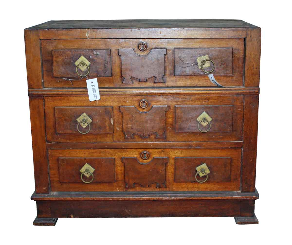 Wooden Cabinet with Three Drawers