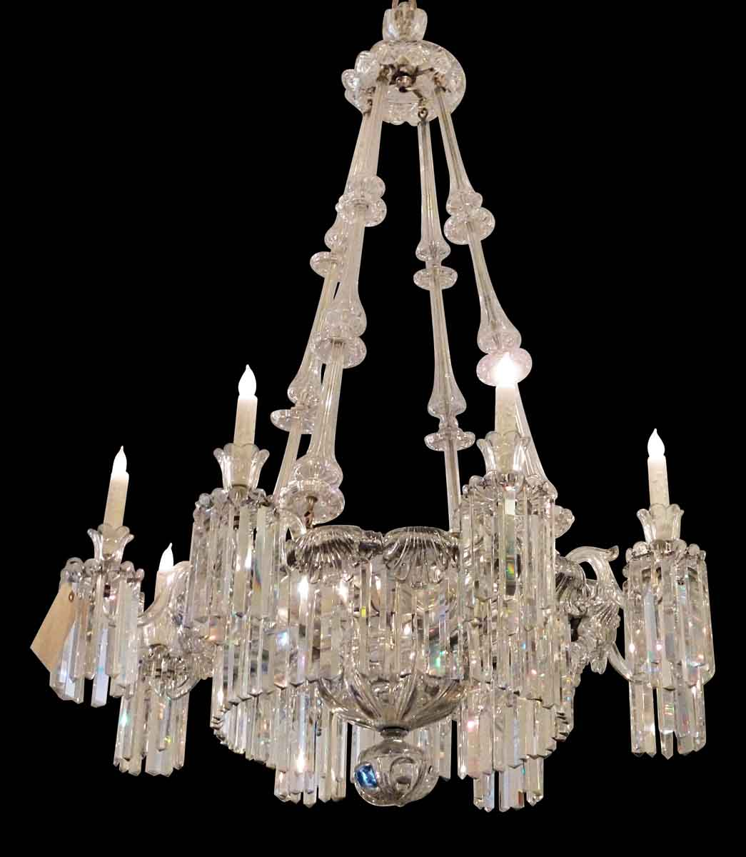 19th Century Eight Arm French Crystal Chandelier