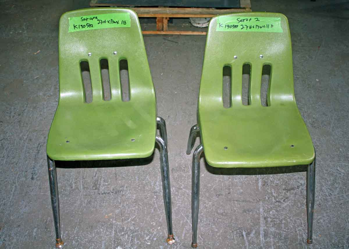 Pair of Green Chairs